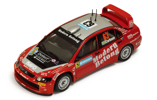 1:43 MITSUBISHI LANCER WRC NO63 RALLY SWEDEN 2006