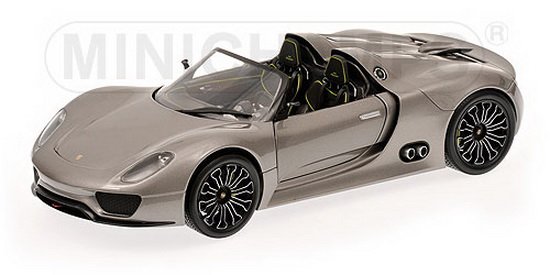 1:18 PORSCHE 918 SPYDER 2010 GREY METALLIC