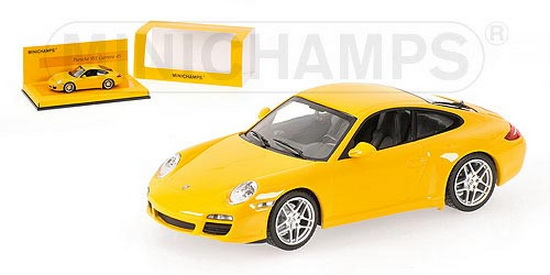 1:43 PORSCHE 911 ( 997 ) CARRERA 2008 YELLOW LINEA GIALLO