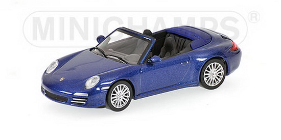 1:64 PORSCHE 911 CARRERA 4S CABRIO 2008 BLUE METALLIC
