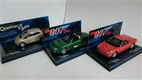 3ks JAMES BOND MOVIE SET 1:43 JAGUAR, FORD, FORD