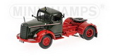1:43 MERCEDES L 6600S SATTELZUGMASCHINE 1950 GREEN / RED